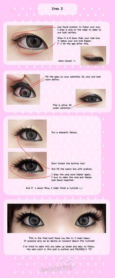 Gyaru Eye Makeup Tutorial