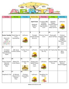 A Month Of Meals On A Budget   April 2015 Meal Plan   30 Days of Dinners for $151