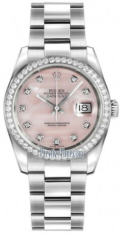 Rolex Datejust 36mm Stainless Steel 116244 Pink MOP Diamond Oyster #womenluxurywatches,womenluxurywatchesmostexpensive,womenluxurywatchesrolex,womenluxurywatchestagheuer,womenluxurywatchesclassy,womenluxurywatchespatekphilippe,womenluxurywatchesrosegold,womenluxurywatchesfashion,womenluxurywatchesaccessories,womenluxurywatchesvacheronconstantin Cheap Watches, Cool Watches, Watches For Men, Ladies Watches, Wrist Watches, Ladies Rolex Watches, Fine Watches, Elegant Watches, Beautiful Watches