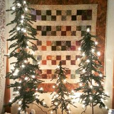 """Completed """"challenge"""" project for #pineconequilters Started with fat quarter of brown/green/purple batik."""