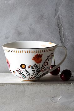 Harvest Foliage Mug #anthropologie