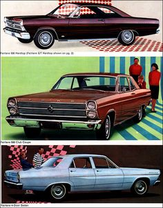 1966 Ford Fairlane 2-Door Hardtop, Club Coupe and 4-Door Sedan