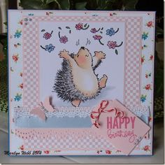 Penny Black Hedgehog rubber stamp.