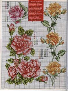 Punto de Cruz GRATIS: Rosas Realistas