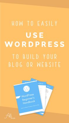 Finally understand how to use WordPress to build your blog or website. We'll walkthrough the basics so you can get your website started. And don't forget to download your free 20 page WordPress Beginner's Handbook to refer to in the future!