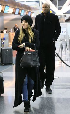 Travel Companions from Khloé & Lamar: Romance Rewind  Khloé and Lamar jet out of NYC after one of his child custody hearings in March 2013.