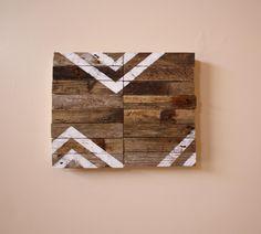 Union - Modern Industrial Design - Reclaimed Driftwood Artwork - Southwest - Desert - chevron.
