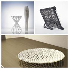 La stampa 3D, stà diventando sempre più rilevante nell'odierno settore della progettazione, ecco tre esempi di interior design e accessori personali stampati in 3D con la massima libertà di creazione, nell'ordine: lo sgabello, la cover per I Pad e il vassoio.