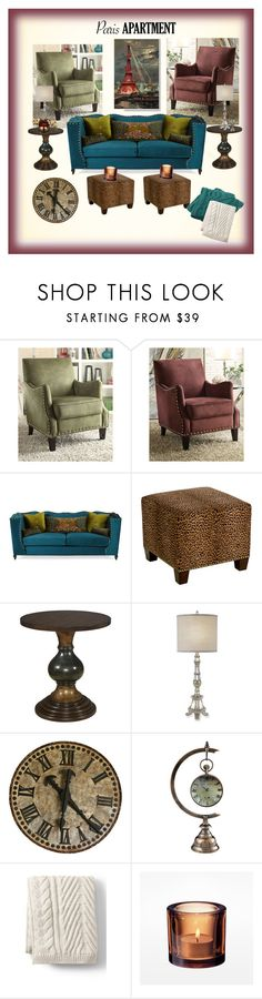 """""""My Paris Apartment"""" by onesweetthing ❤ liked on Polyvore featuring interior, interiors, interior design, home, home decor, interior decorating, Haute House, Skyline, Porsche and Lands' End"""