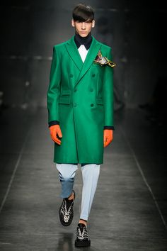 Looks like the Onceler from Dr. Seuss' the Lorax! Andrea Pompilio | Fall 2014 Menswear Collection | Style.com