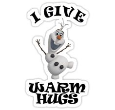 Disney Frozen Olaf the Snowman Warm Hugs sticker by sweetsisters
