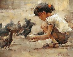 Saint Mark's Square - Oil by Andre Kohn