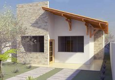 Modern Style Home Design with 2 Bedrooms Outdoor Decor, House Design, Simple House, House, Modern Style Homes, House Front, Outdoor Living, Building A House, Small House