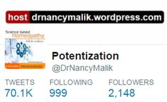 My Twitter profile #homeopathy