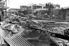 The scene of devastation Smith Street, Darwin, Christmas morning 1974 Amazing Pics, Historical Pictures, Darwin, Old Photos, The Past, Christmas Morning, Christmas Eve, Xmas, Scene