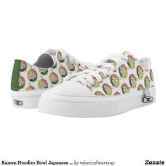 Ramen Noodles Bowl Japanese Food Restaurant Foodie Low-Top Sneakers - Canvas-Top Rubber-Sole Athletic Shoes By Talented Fashion And Graphic Designers - #shoes #sneakers #footwear #mensfashion #apparel #shopping #bargain #sale #outfit #stylish #cool #graphicdesign #trendy #fashion #design #fashiondesign #designer #fashiondesigner #style