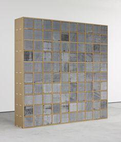 """Sarah Lucas -J,2013 MDF, 100 breeze blocks 244 x 244 x 44 cm / 96 x 96 x 17"""""""