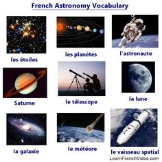 French Lesson: Learn How To Say Astronomy Words - Lesson Includes 29 Audio Files!