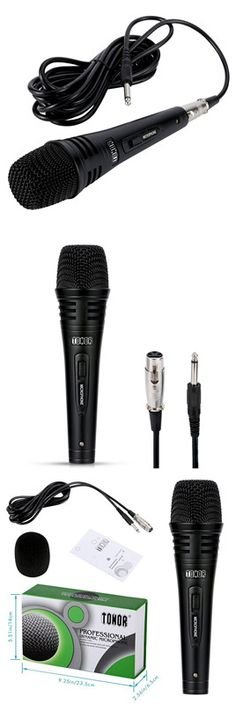 TONOR TN120492BL XLR Dynamic Microphone Metal Mesh, Loudspeaker, Karaoke, Style, Metal Trellis, Music Speakers, Outfits, Speakers