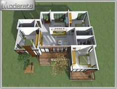 If having a multiple story house is not for you, you have a choice and can opt for a single story house. This single story house is big enough to still provide relaxation and space for the family. House Layout Plans, House Plans One Story, Best House Plans, Story House, Dream House Plans, Bungalow Haus Design, Modern Bungalow House, Duplex House Design, Bungalow House Plans