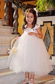 Flower Girl Dress White. $134.95, via Etsy.