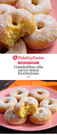 Ciambelline alla zucca senza lievitazione Sweet Recipes, Easy Recipes, Antipasto, Bagel, Doughnut, Biscuits, Good Food, Food And Drink, Easy Meals