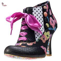 Irregular Choice Blair Elfglow Femmes Chaussures Black Floral - 38 EU - Chaussures irregular choice (*Partner-Link)