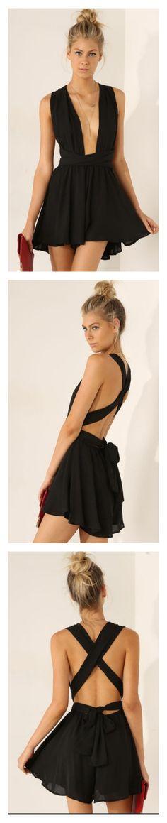 Black jumpsuit from http://www.sheinside.com/Black-Sleeveless-Cross-Back-Jumpsuit-p-198780-cat-1860.html 16.19 €