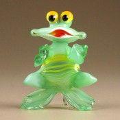 Dancing Green Glass Frog