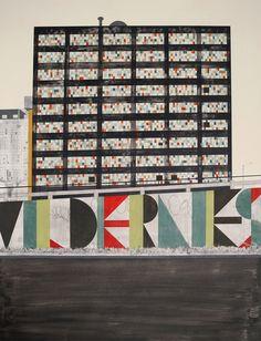 evan hecox: painted newspaper prints