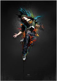 "Digital Artwork by ""Maciej Mizer"" Dance Images, Dance Photos, Rhythm Art, Dance Wallpaper, Hipster Background, Shadow Art, Street Dance, Photoshop Effects, Images Google"