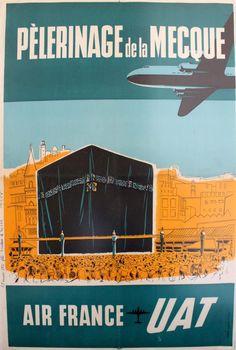 Air France -  UAT - Pèlerinage de la Mecque - 1955 - (Droux) -
