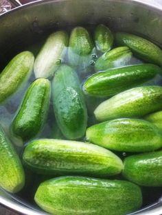 Kovászos uborka télire is 🥒   Terék Károlyné receptje - Cookpad receptek Pickles, Cucumber, Vegetables, Food, Essen, Vegetable Recipes, Meals, Pickle, Yemek