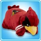 """It's sooo fluffy!!!!""  Snugggly warm Arizona Cardinals Mascot Big Red Pillow Pet."