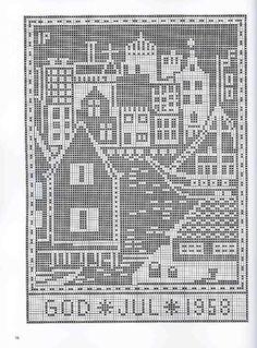 Gallery.ru / Фото #7 - рождество - EditRR Russian Cross Stitch, Xmas Cross Stitch, Cross Stitch Samplers, Cross Stitch Charts, Cross Stitching, Cross Stitch Embroidery, Cross Stitch Patterns, Fair Isle Knitting Patterns, Filet Crochet Charts