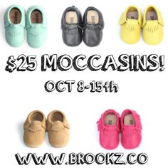 Thanksgiving is around the corner and we have SO much to be thankful for this year including all of YOU! So we're having our biggest sale yet! ALL moccasins will be ✨only $25✨ for one week only starting tomorrow at 6pm(CT). Happy early turkey day loves, thank you for all your constant love and support! ✖️www.brookz.co✖️