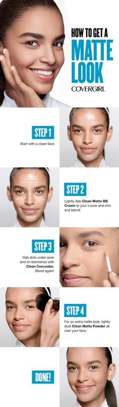 Follow these four easy steps to shine-free perfection. Goodbye oily-looking skin, hello matte heaven.