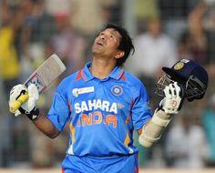 Sachin Tendulkar looks to the heavens after reaching his 100th international century vs Bangladesh in Asia Cup, Mirpur, March 16, 2012