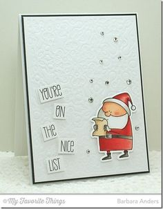 Jingle All the Way stamp set and Die-namics, Snowflake Fusion Cover-Up Die-namics - Barbara Anders #mftstamps