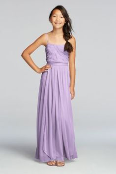 For Payton? Versa Convertible Long Mesh Dress - Davids Bridal
