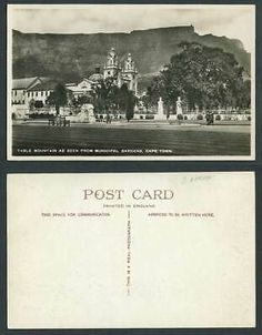 South Africa Old R Photo Postcard Table Mountain from Municipal Garden Cape Town   eBay