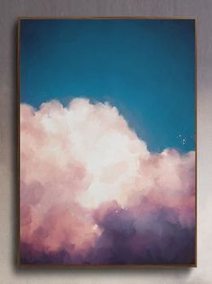 """""""Canggu II"""" cloud painting - cloud painting and . - """"Canggu II"""" cloud painting – cloud painting and … – … – Cook - Mini Canvas Art, Aesthetic Painting, Aesthetic Drawing, Painting & Drawing, Painting Clouds, Painting Abstract, How To Paint Clouds, Acrylic Art Paintings, Oil Painting Easy"""
