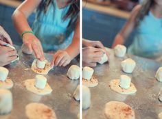 Easter treat-the marshmallow melts while cooking to leave the biscuit empty like the tomb.  So cute for kids!