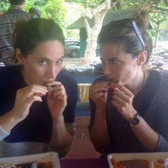 Stana Katic with her sister