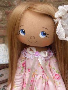 Foto Homemade Cloth Dolls, Diy Rag Dolls, Diy Doll, Doll Face Paint, Doll Painting, Fabric Toys, Doll Eyes, Fairy Dolls, Knitted Dolls