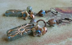 Aqua Earrings Ocean Jasper Unique  Blue and by DesignsByTanaBanana, $24.00