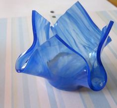 Fused Glass Candle Holder by outofourgourds on Etsy, $15.00