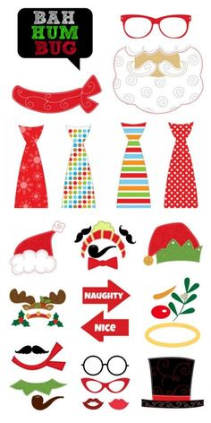 The Top 20 Places For Holiday Photo Booth Prop Sets Christmas Photo Booth, Christmas Games, Noel Christmas, Christmas Printables, Christmas Decorations, Photos Booth, Photo Booth Props, Holiday Photos, Christmas Photos