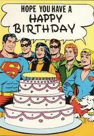 Super hero happy birthday