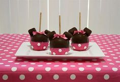 Marshmellows, chocolate and pink sugar!    Design Dazzle: Minnie Mouse Party Ideas